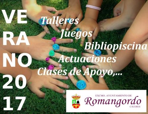 Dinamización Sociocultural Verano 2017 en Romangordo